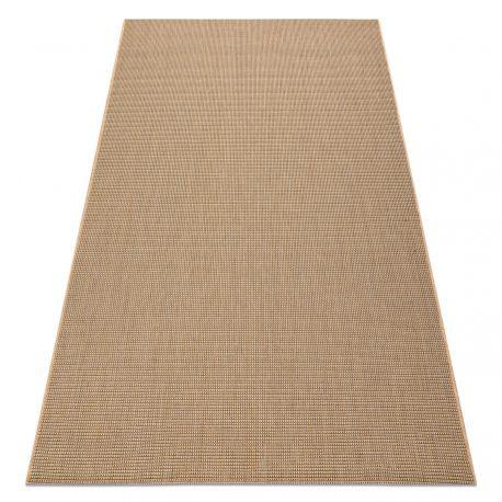 CARPET SIZAL FLOORLUX 20580 plain, flat, one colour - natural / coffee