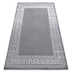Modern MEFE carpet 2813 Frame, greek key - structural two levels of fleece grey