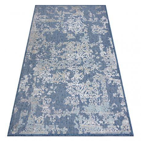 Teppich SAMPLE SOLAR D3811 Ornament - elfenbein / blau