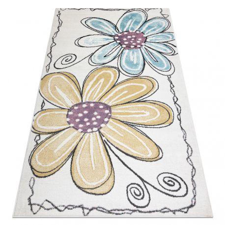 Carpet SAMPLE BONN D7201 Flowers - ivory