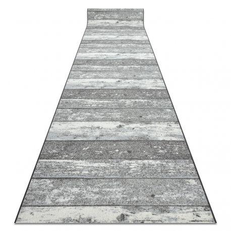 Läufer Antirutsch DESKI Holz Tafel grau
