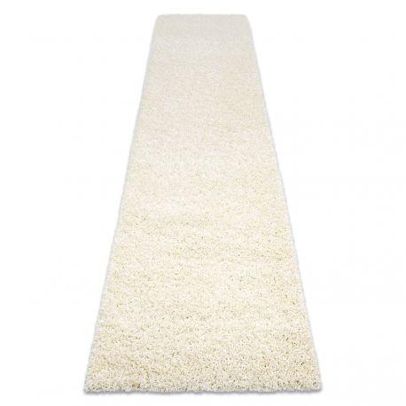 Carpet, Runner SOFFI shaggy 5cm cream - for the kitchen, corridor & hallway