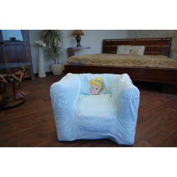 Nafukovací pouf židle pro DISNEY CINDRELLA modrý