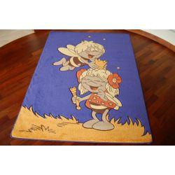 Teppich BIENEN blau