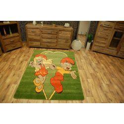 Carpet THE SMERFS green