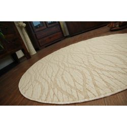 Carpet circle FLOW 330 beige