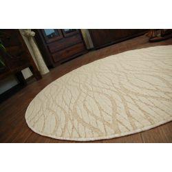 Teppich kreis FLOW 330 beige