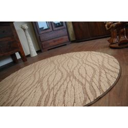 Carpet circle FLOW 992 brown