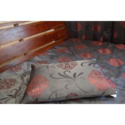 Pillow FLORYDA black / maroon