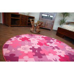 Teppich kreis PUZZLE lila