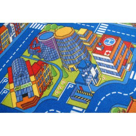 Koberec ULICE BIG CITY modrý