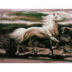 Carpet TAPESTRY - HORSES olive