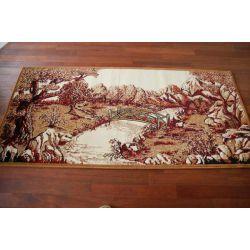 Carpet TAPESTRY - BRIDGE maroon