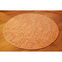 Carpet circle KASBAR red