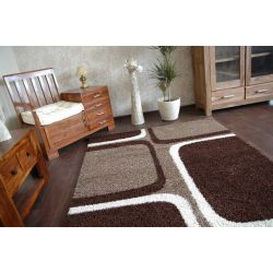 Carpet JAZZY TETRIS dark brown
