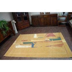 Teppich MODERN PABLO dunklem ocker
