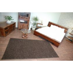 Teppich, Teppichboden SHAGGY MISTRAL dunkelbraun
