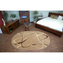 Teppich KARAMELL oval CHOCO Nuss