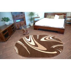 Carpet CARAMEL oval COFFEE brown
