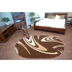 Килим KARMEL овальний кавовий коричневий