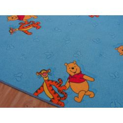 Passadeira carpete URSINHO PUFF azul
