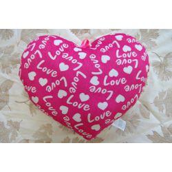 Подушка плюшева SERCE LOVE рожева