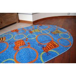 Teppich FRYZ oval FELINE marine