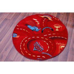 Tappeto kids CERCHIO CARS rosso