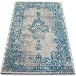 Teppich VINTAGE Rosette 22206/064 türkis / grau