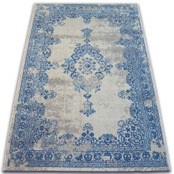 Teppich VINTAGE Rosette 22206/063 blau / sahne