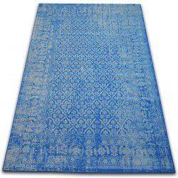 Teppich VINTAGE Blumen 22209/543 blau