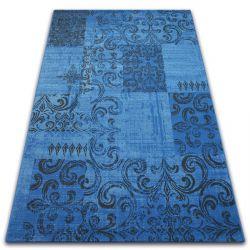 Tappeto Vintage 22215/073 blu / griggio patchwork