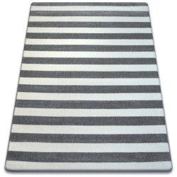 Tapis SKETCH - F758 gris et blanc - Rayures