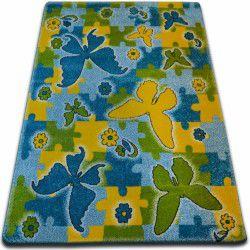 Teppich KIDS Schmetterling blau C429