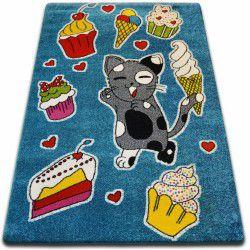Teppich KIDS Kuchen blau C415