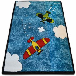 Teppich KIDS Flugzeuge blau C413