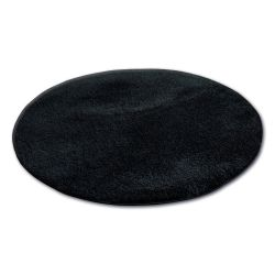 Килим колесо SHAGGY MICRO чорний