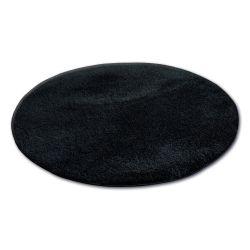 Teppich Kreis SHAGGY MICRO schwarz
