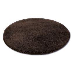 Tapis cercle SHAGGY MICRO marron