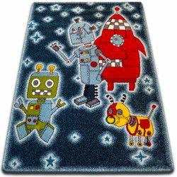 Carpet KIDS Robots black C419
