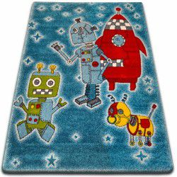 Teppich KIDS Roboter blau C419
