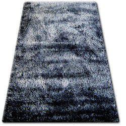 Shaggy narin szőnyeg P901 fekete krém+ibolya