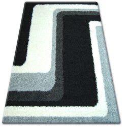 Килим SHAGGY ZENA 2527 чорний / сірий
