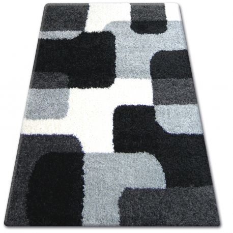 Teppich SHAGGY ZENA 2526 schwarz / grau