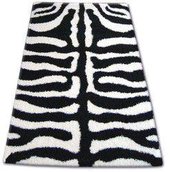 Teppich SHAGGY ZENA 3964 weiß / schwarz