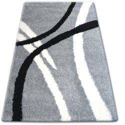 TAPIS SHAGGY ZENA 4600 gris et blanc