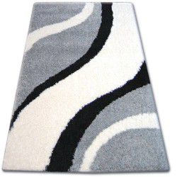 Килим SHAGGY ZENA 3182 сірий / білий