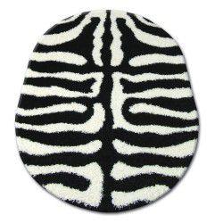 Carpet oval SHAGGY ZENA 3964 white / black