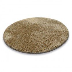 Kulatý koberec SHAGGY NARIN P901 tmavě béžová