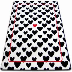 Sketch szőnyeg - F755 fehér/fekete- Szív